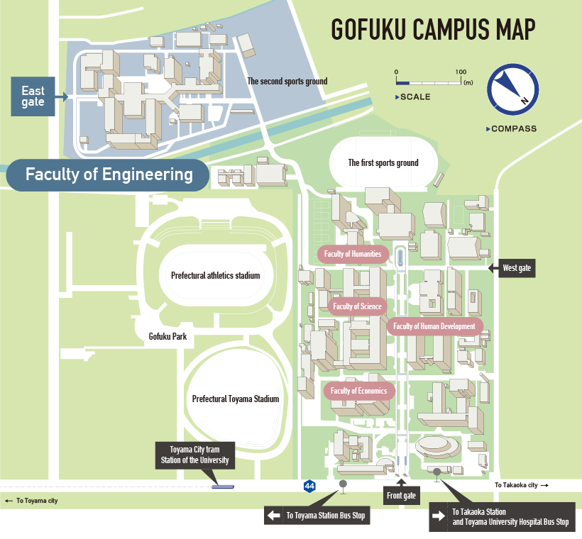 GOFUKU CAMPUS MAP