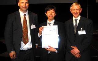 富山大学大学院理工学教育部修士課程材料機能工学専攻1年の西窪真也君が第14回アルミニウム合金国際会議で優秀学生ポスター発表賞を受賞しました