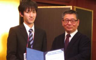 """機械知能システム工学専攻1年の水戸康之さんが国際フォーラム""""The International Forum on MicroManufacturing & Biofabrication'15″で""""Best Student Award""""を受賞しました"""
