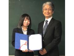 電気電子システム工学専攻1年の生川菜々さんが「IEEE AP-S Japan  Student Encouragement Award」を受賞しました