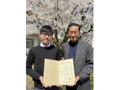電気電子システム工学専攻2年の角崎雄太さんが、日本音響学会学生優秀発表賞を受賞しました